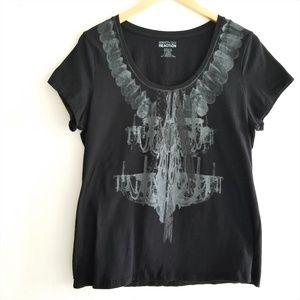 Kenneth Cole Black Chandelier T-Shirt XL